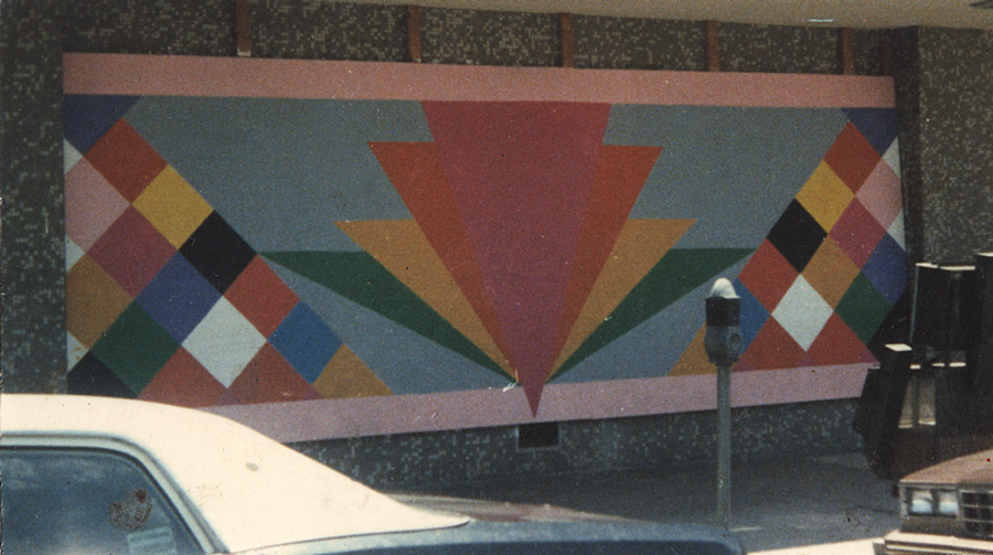 Untitled Mural at Sears building in Long Beach California for 1984 Olympics Medium: Acrylic on wood Year completed: 1984 Most likely destroyed