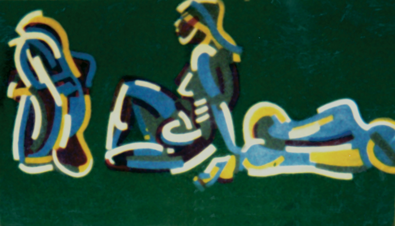 Electric Colors Medium: Acrylic on primed wood panel Destroyed in 1992?